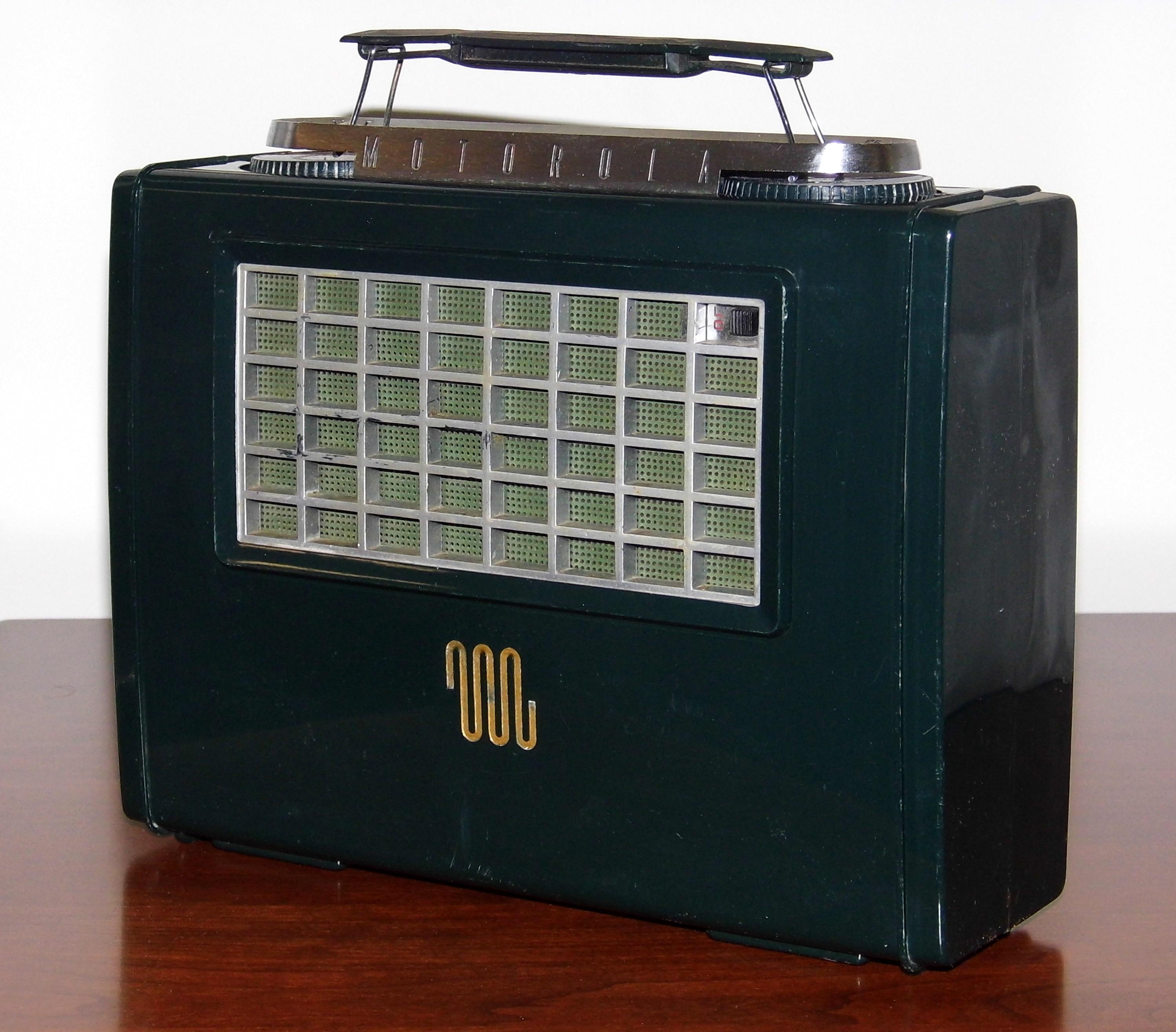 1950s motorola portable radio  1950s  tractor engine and