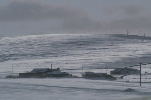 File:Voesgarth in the snow - geograph.org.uk - 531266.jpg