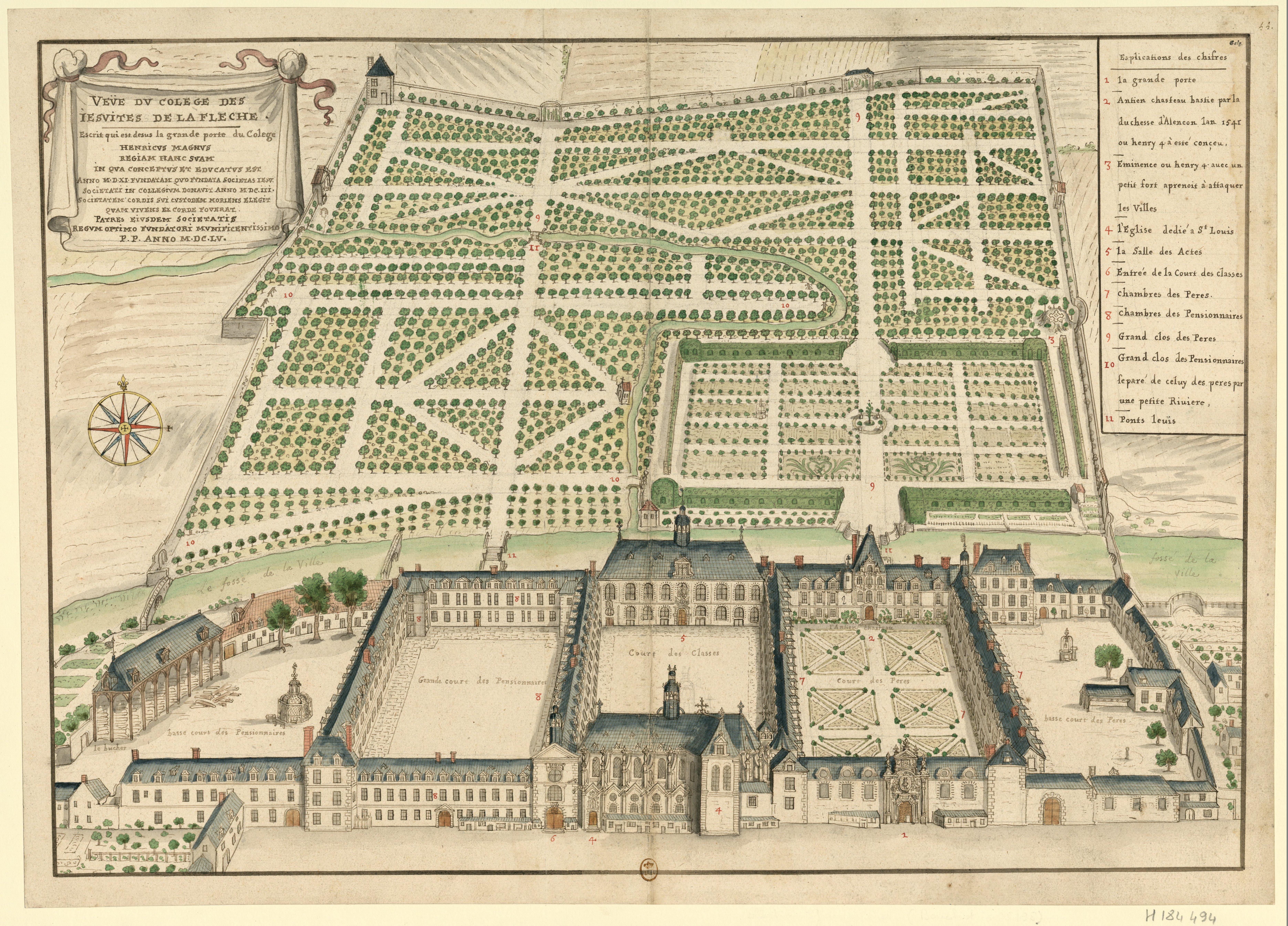 Filevue Du Collège Des Jésuites De La Flèche Boudan 1695jpg