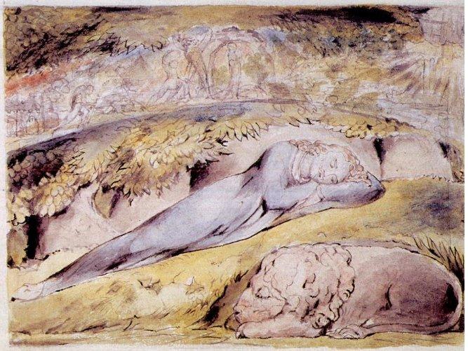 File:William Blake - John Bunyan Plate 1 Dreamen Dreams a Dream.jpg