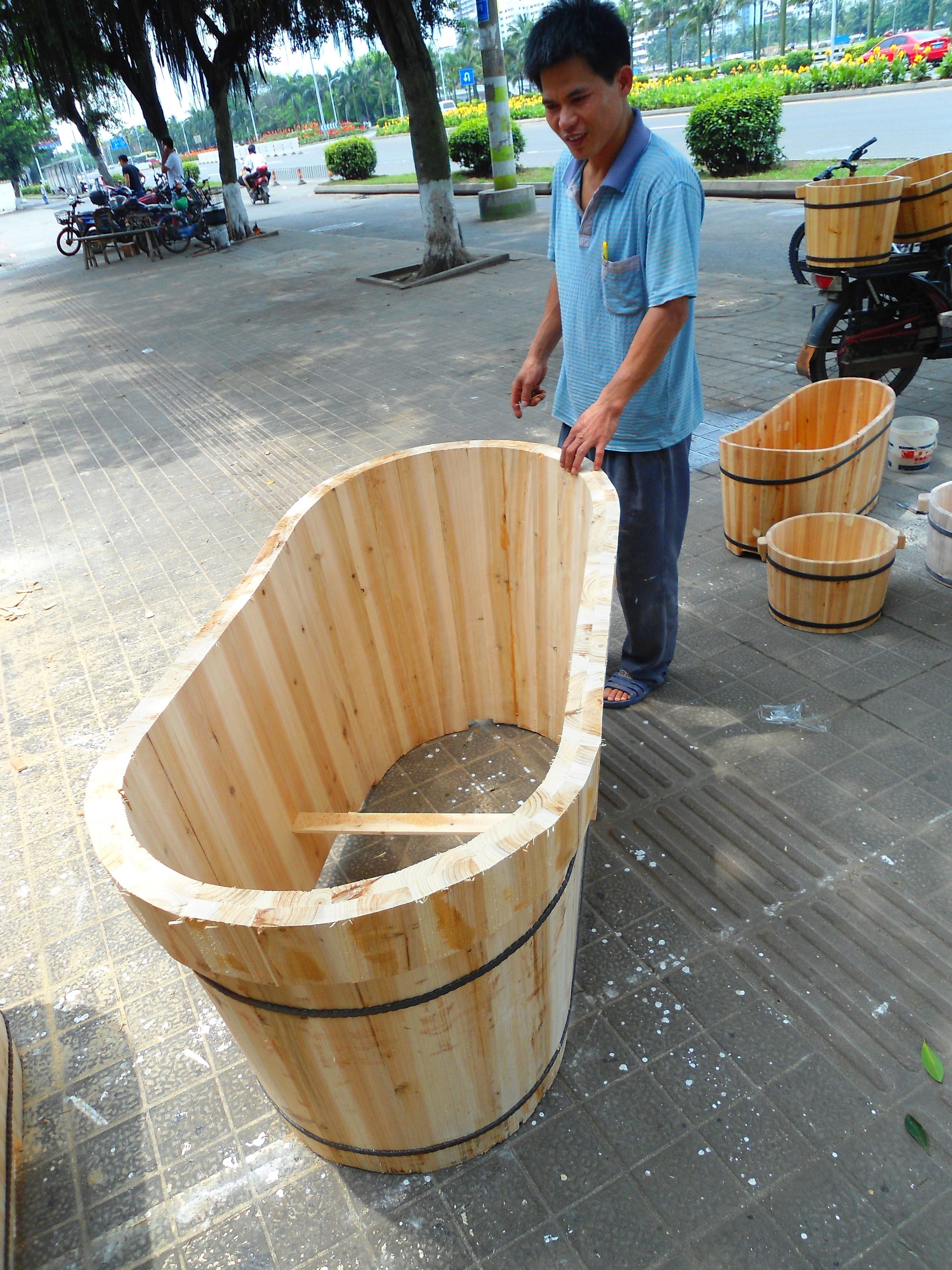File Wooden Bathtub For Adults 03 Jpg Wikimedia Commons