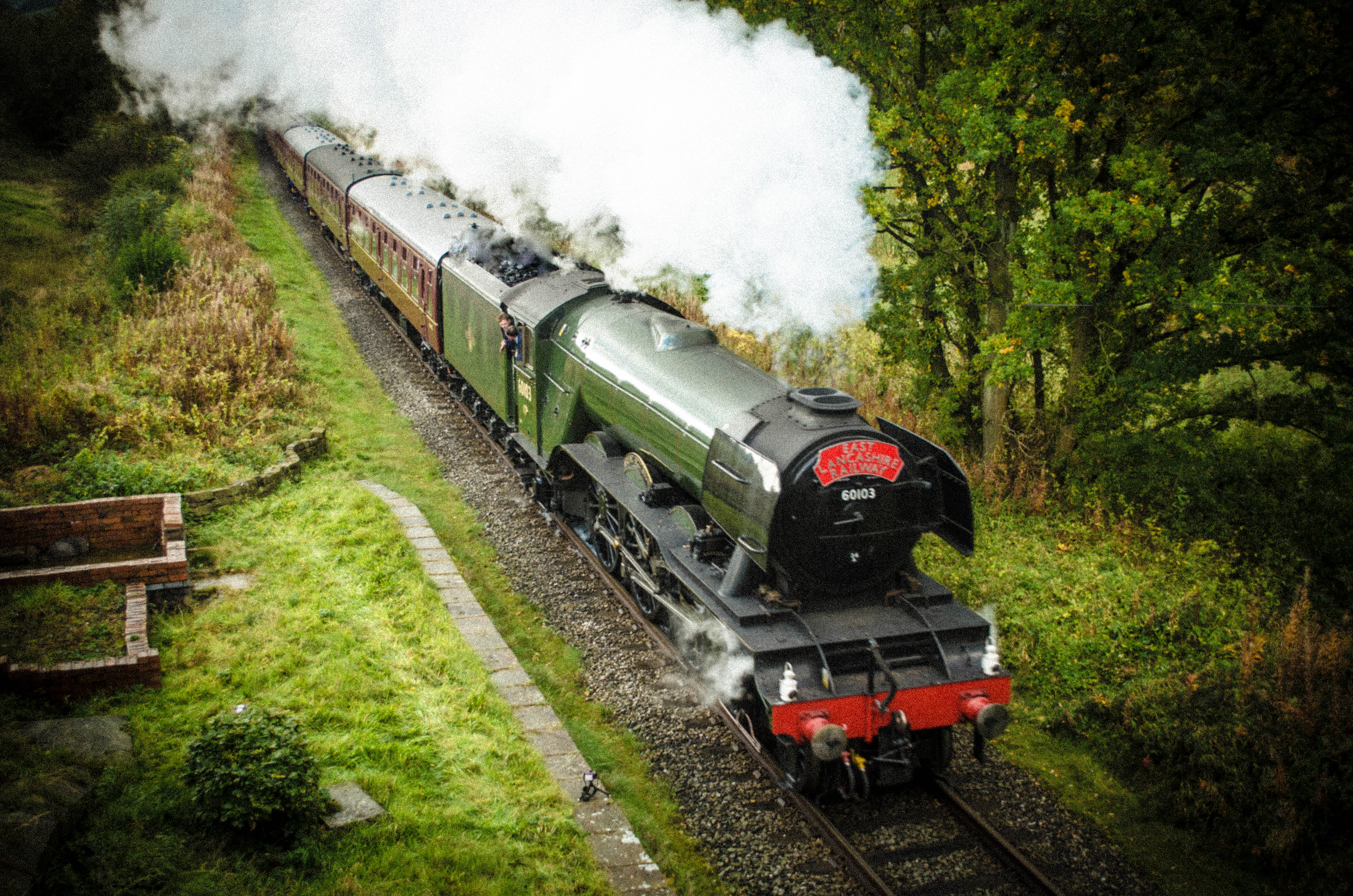 'Flying Scotsman' travelling past Ewood Bridge.jpg