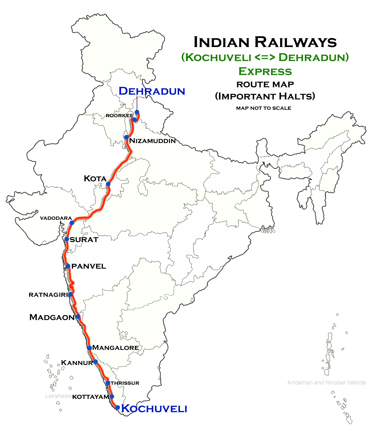 Dehradun In India Map Kochuveli Dehradun Superfast Express   Wikipedia