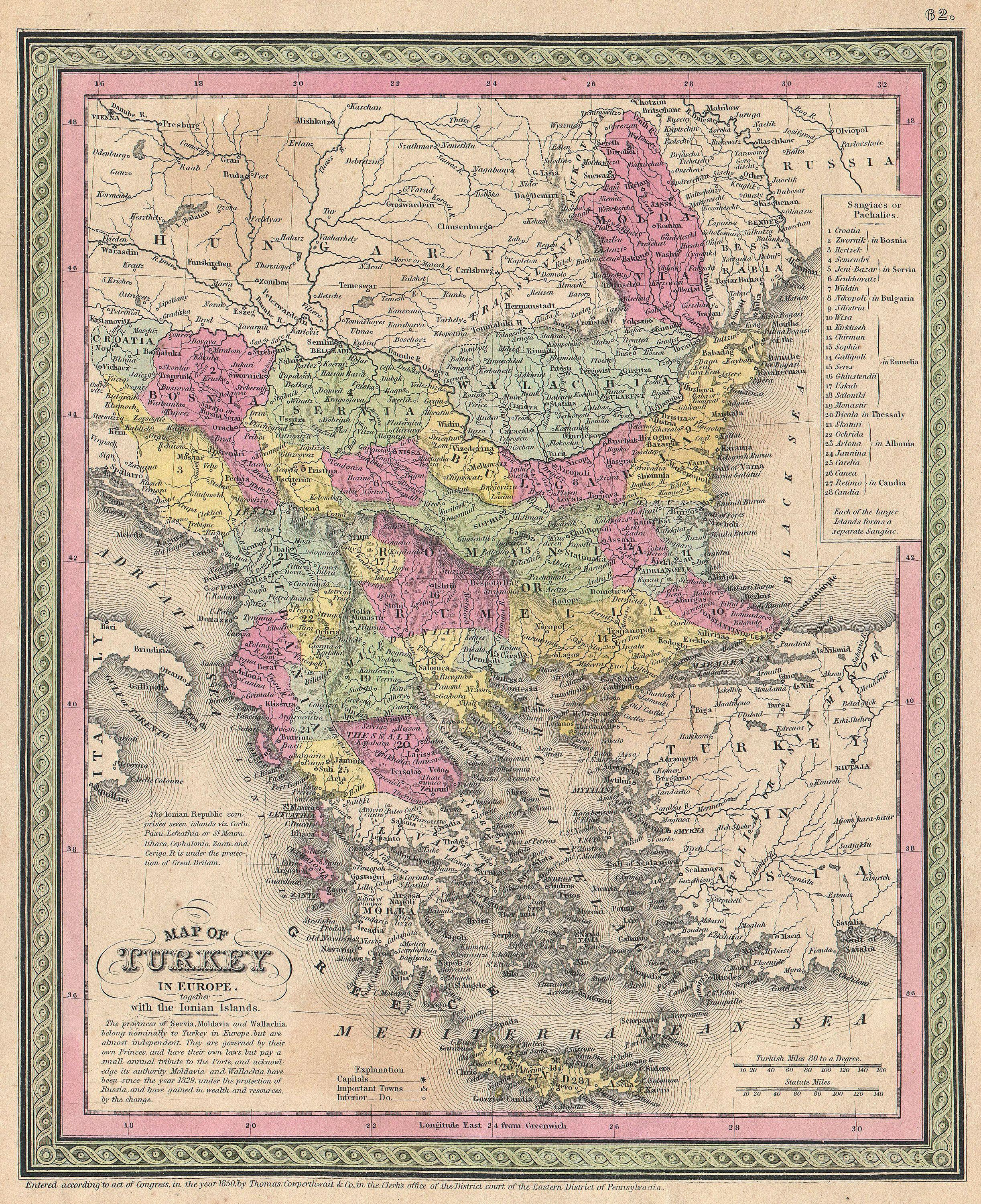 File 1853 Mitchell Map Of Turkey In Europe And Greece Greece