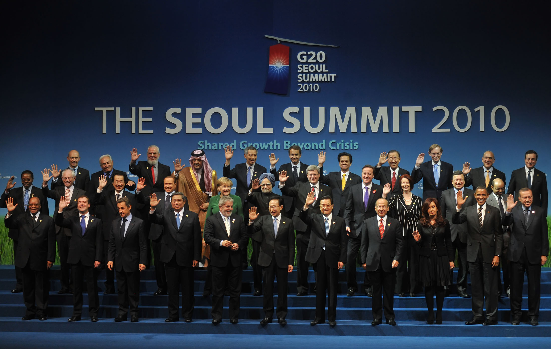 World leaders at the 2010 G20 Seoul summit