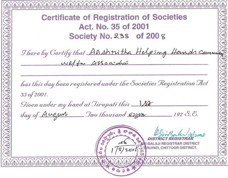 Fileaashrithas Certificate Of Registation Of Societiesg