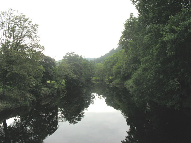 Afon Conwy from the Sapper's bridge - geograph.org.uk - 556313