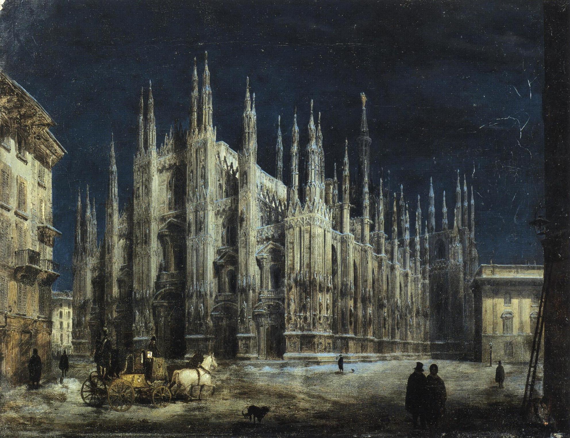 ... - Notturno di Piazza del Duomo a Milano.jpg - Wikimedia Commons