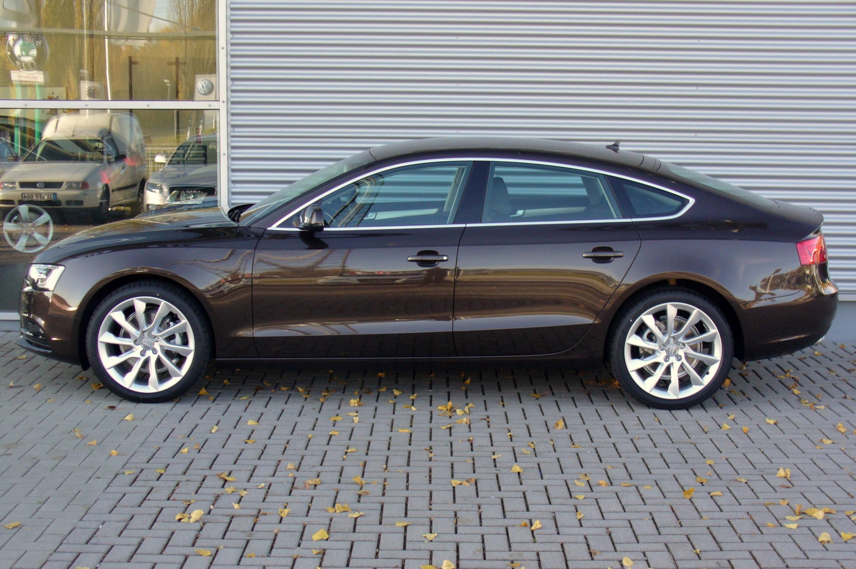 audi a5 sportback 20 tdi teakbraun facelift seitejpg