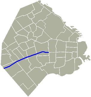 Avenida Juan Bautista Alberdi Mapa