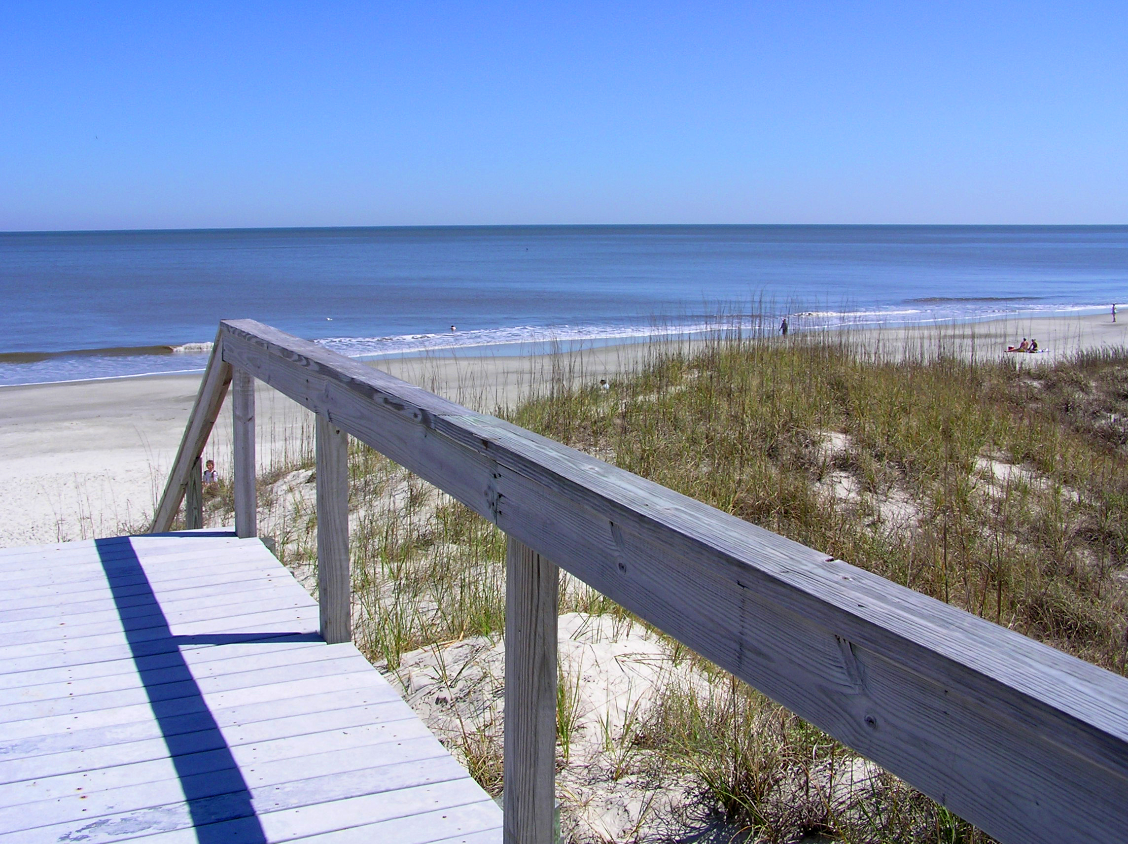 File Beach And Boardwalk On Jekyll Island Jpg