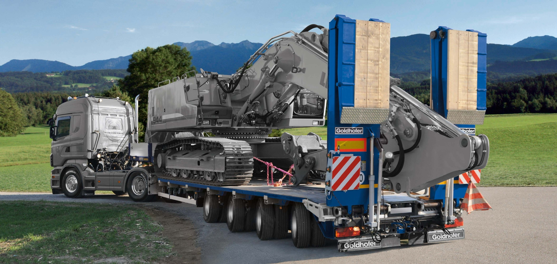 Goldhoffer trailer rimorchi Bild_15_Baggertransport_2012