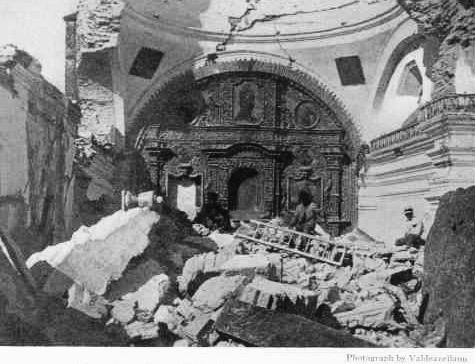 Fotografía de las ruinas del Cerrito del Carmen, publicada en National Geographic.