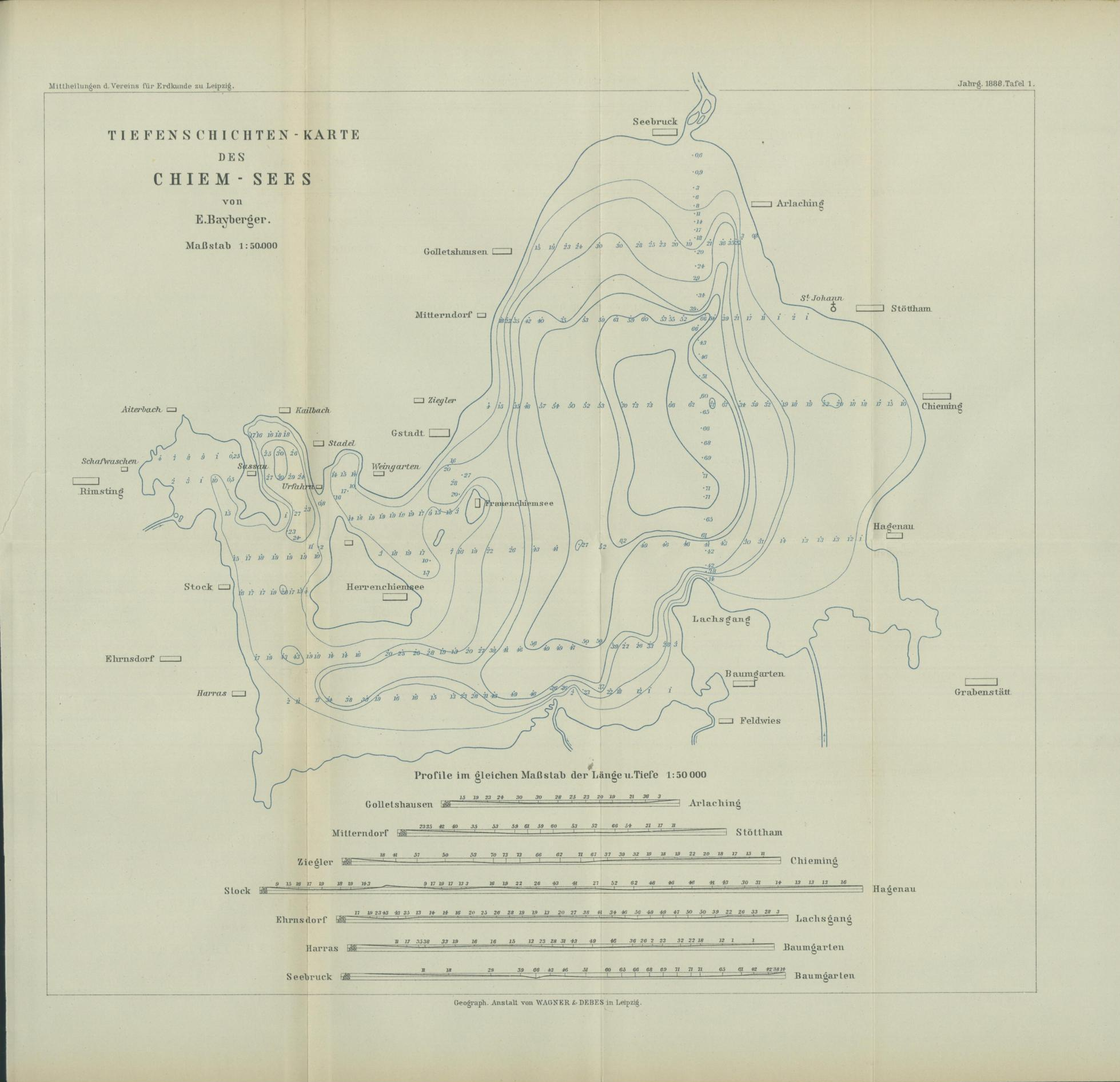 Datei Chiemsee Karte Tiefen Jpg Wikipedia