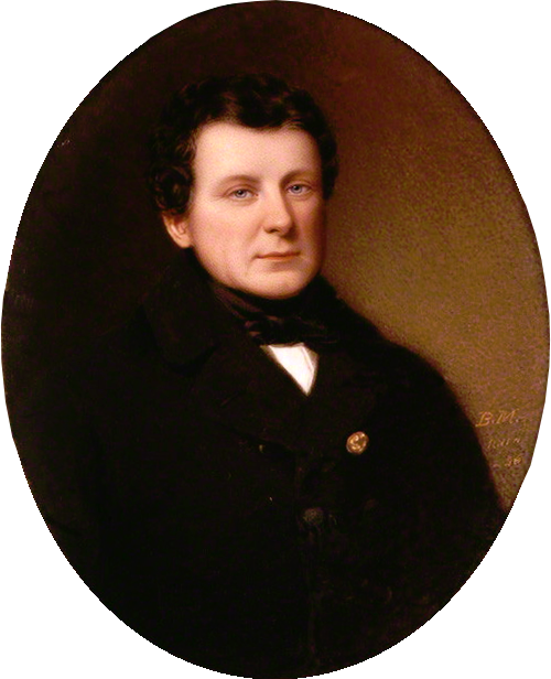 O'Connell, in an 1836 watercolour by Bernard Mulrenin. <!--''Daniel O'Connell'', 1836, by [[Bernard Mulrenin]]-->
