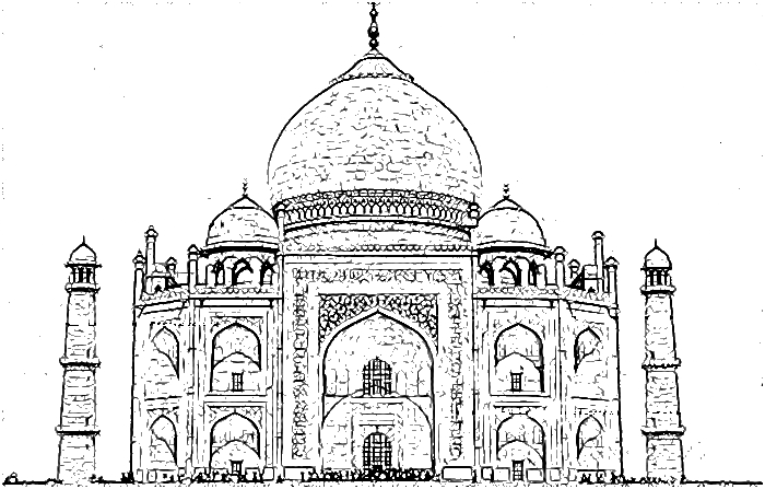 Image Result For Taj Mahal Coloring