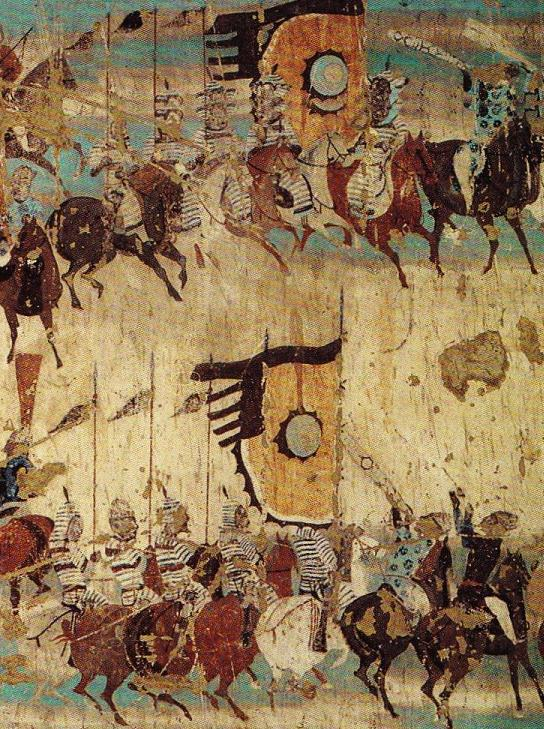 File dunhuang general zhang yichao army for Dynasty mural works