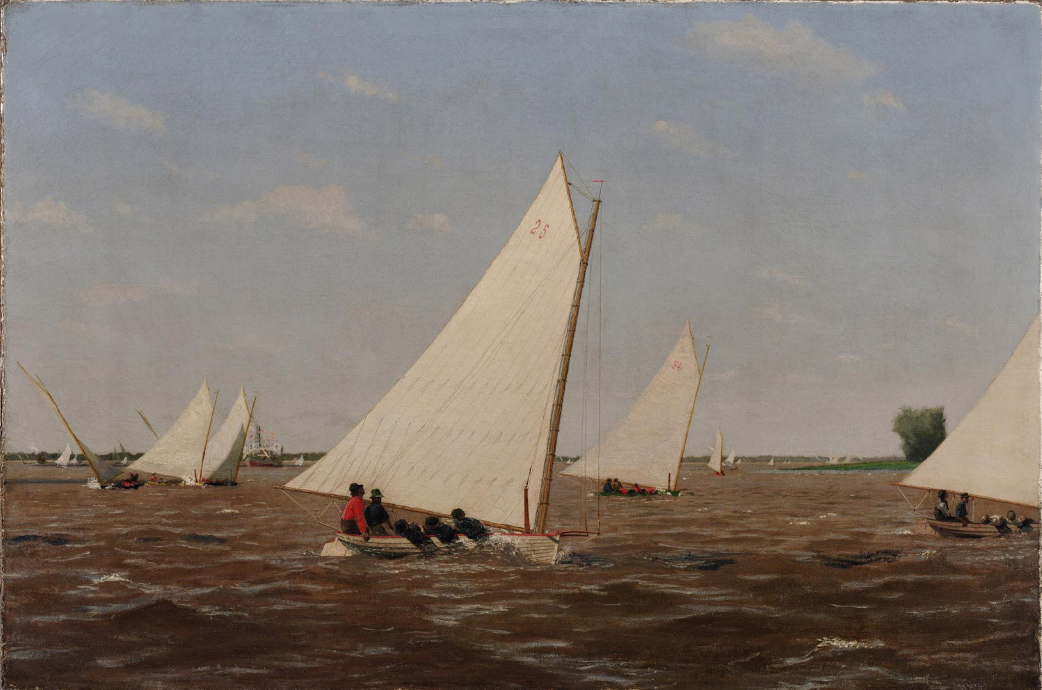 Sail Boats Oil Painting By Gulindo