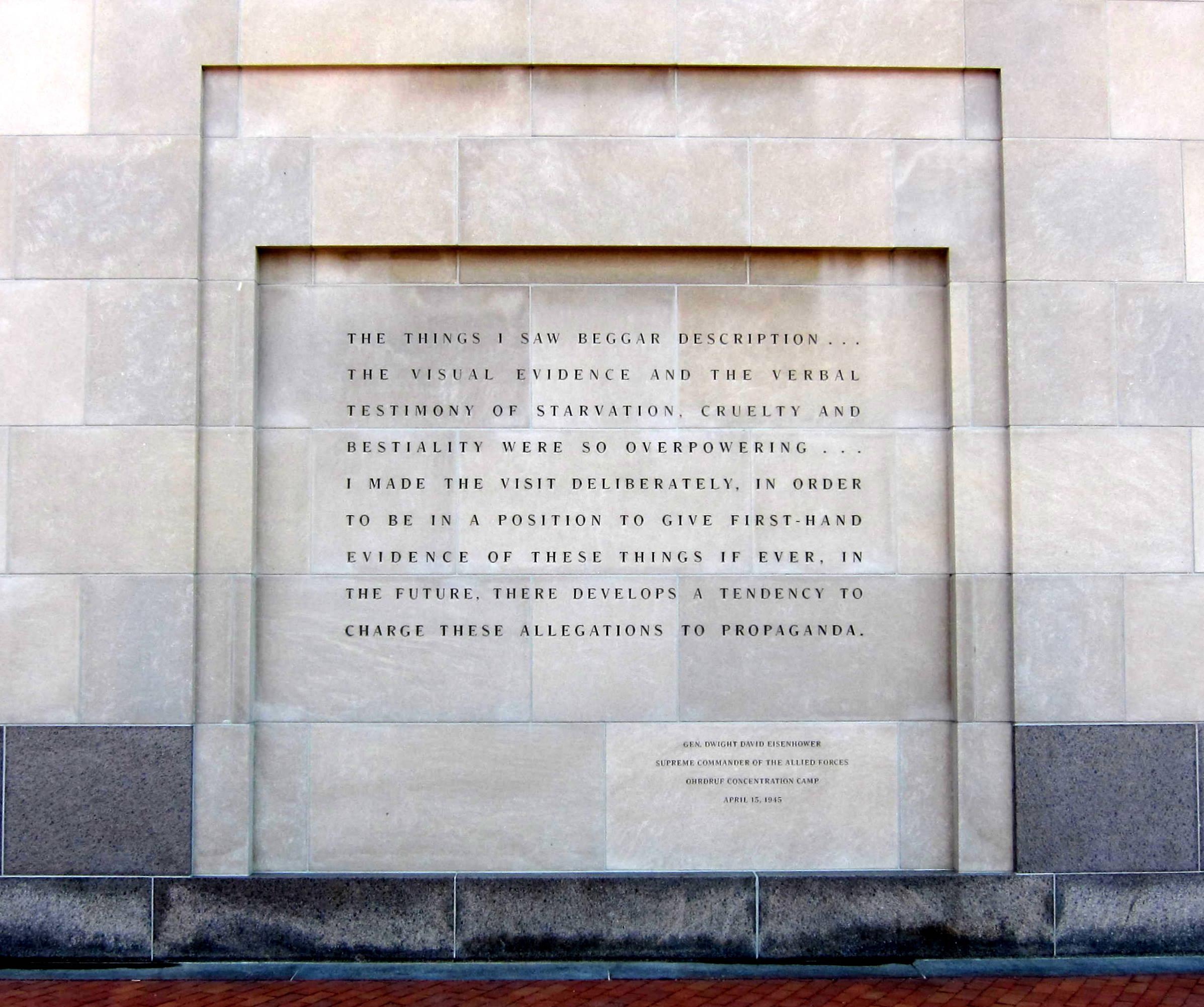 [Image: Eisenhower_quote_-_U.S._Holocaust_Memorial_Museum.JPG]
