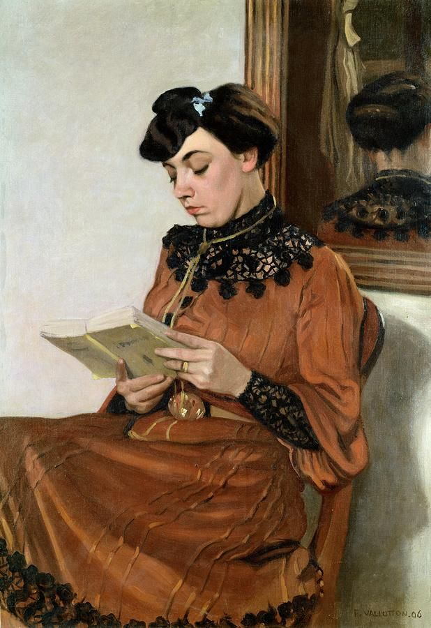 Felix Vallotton, 1906 - Woman Reading.jpg