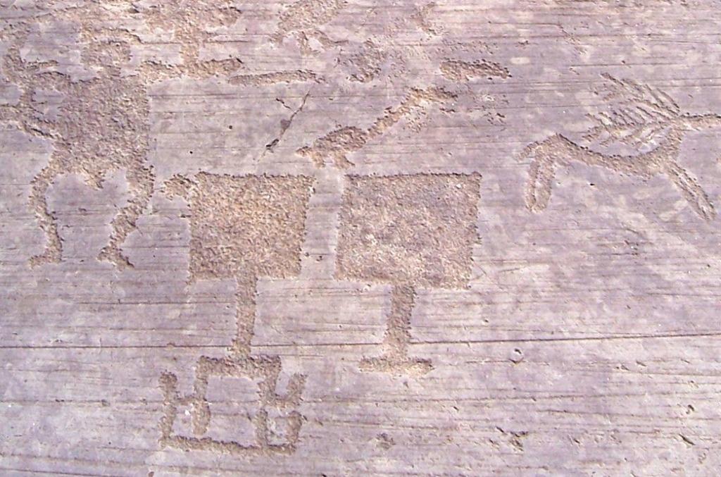 Figure di paletta, cervo e essere umano - Naquane R 1 - Capo di Ponte (Foto Luca Giarelli).jpg