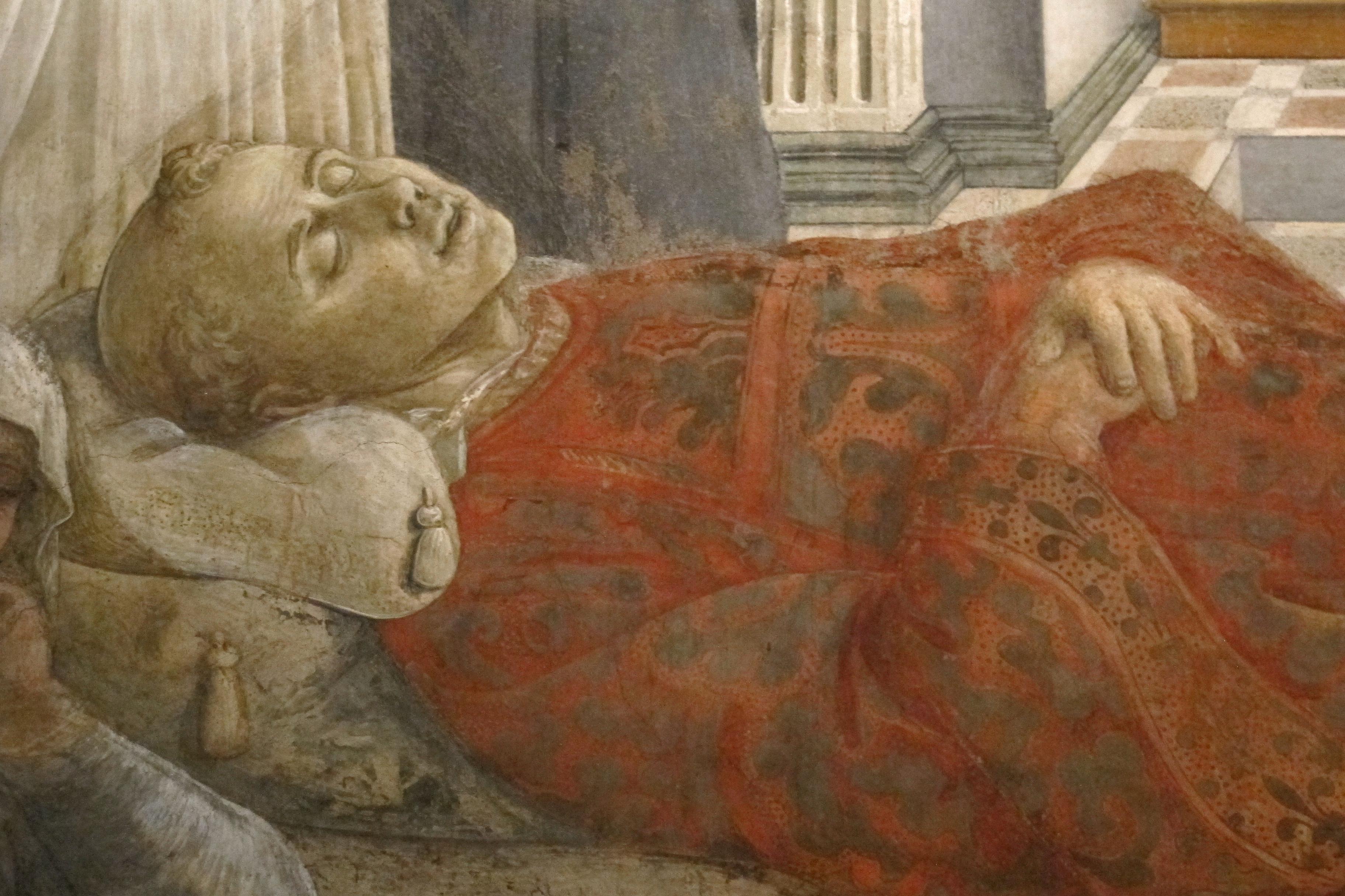 Filippo lippi, affreschi del 1452-65, esequie di s. stefano 08.JPG