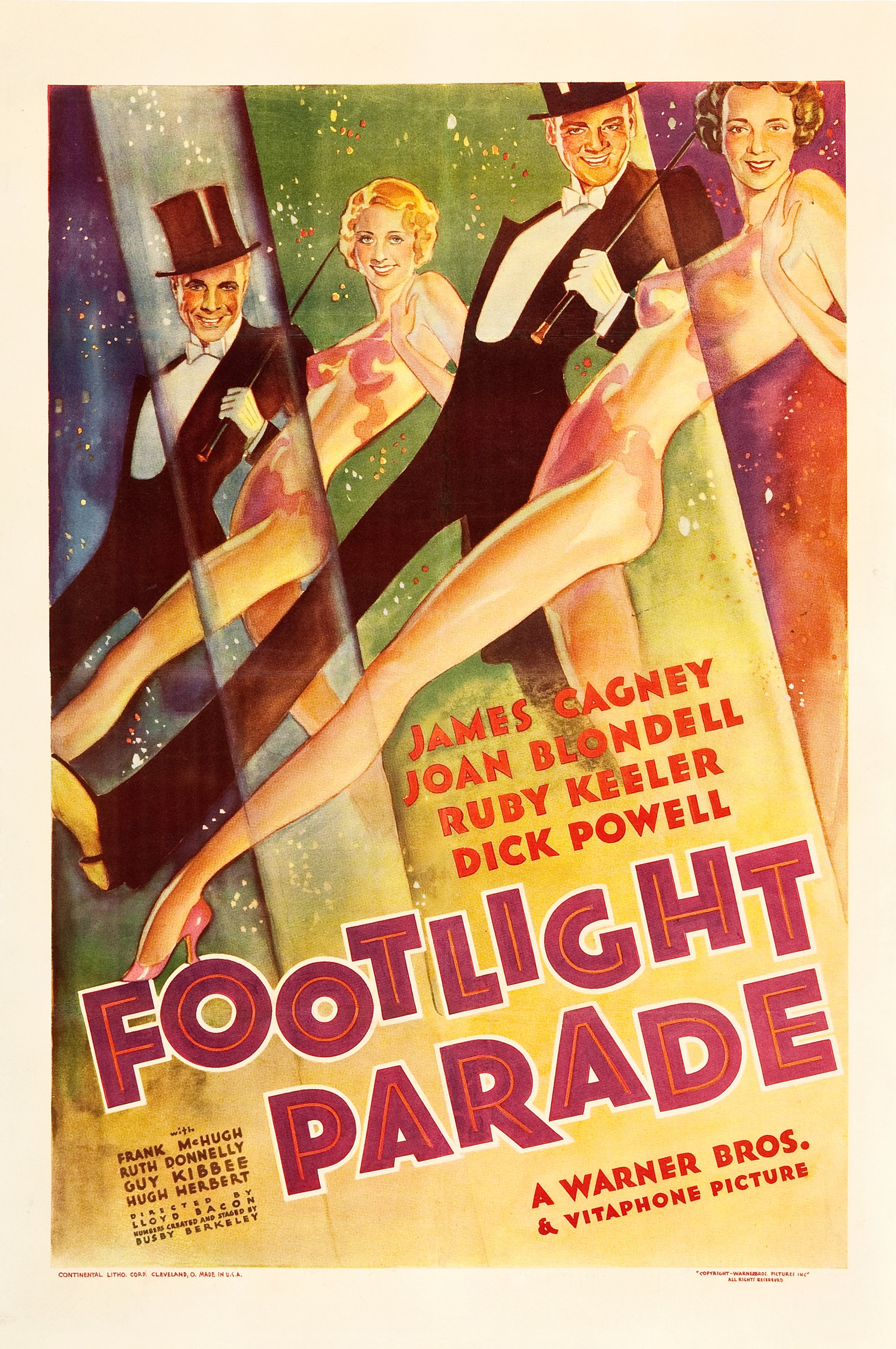 Footlight Parade Vintage James Cagney Movie Poster