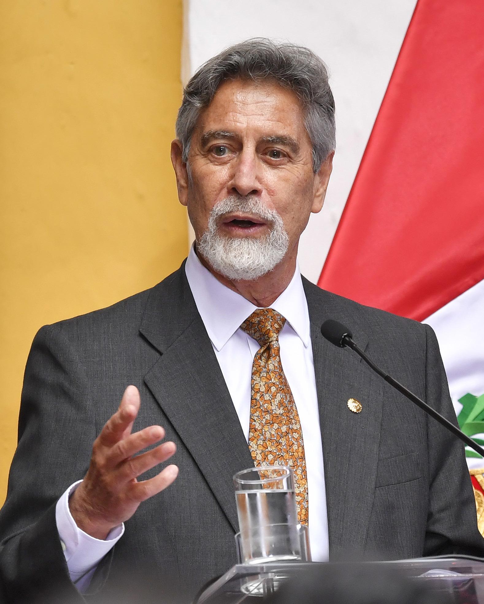 Presidente de Perú Francisco Sagasti