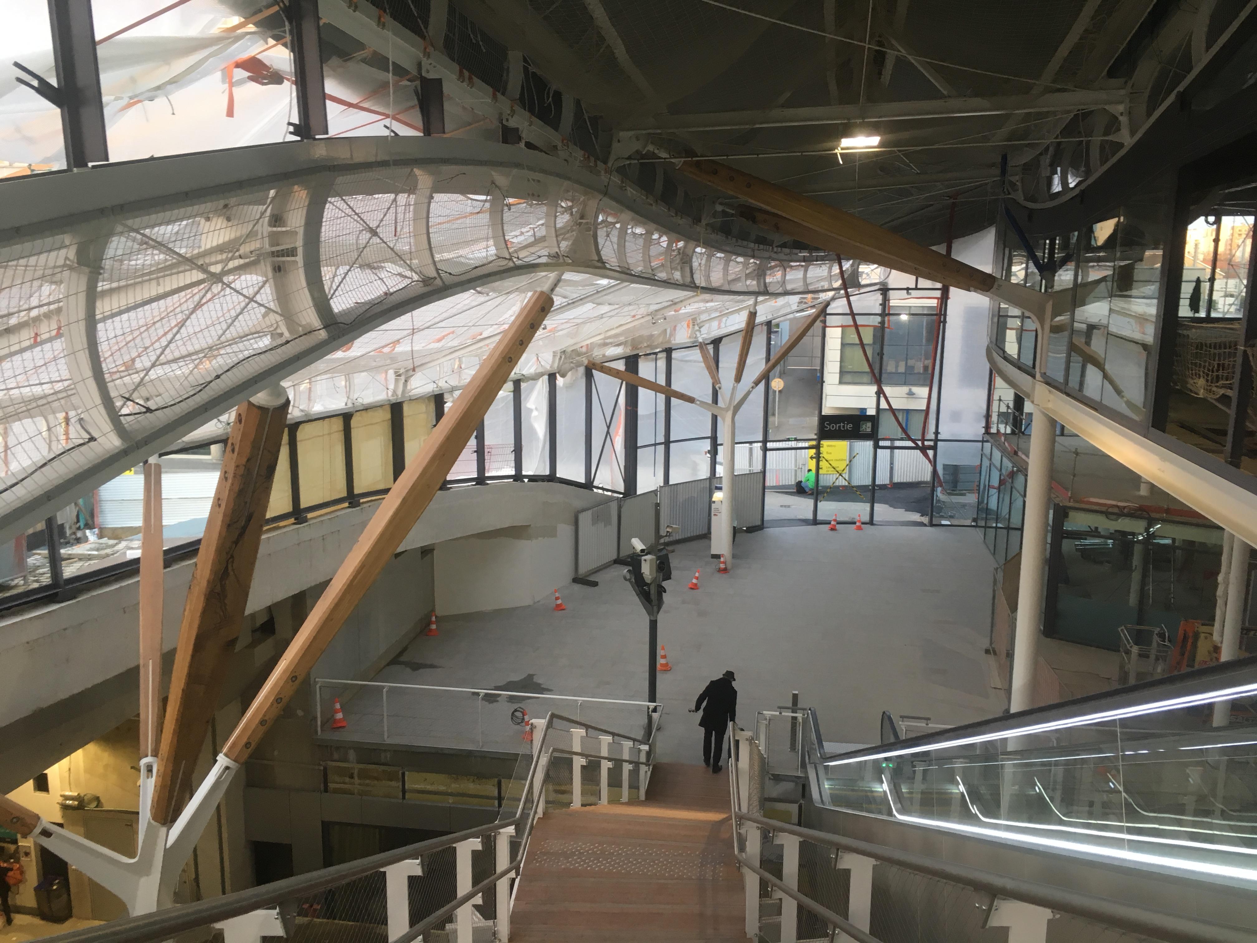 Gare de Rennes - Rénovation avril 2018 (7).jpg Français : Aperçu de la rénovation de la Gare de Rennes prise en avril 2018 Date 5 April 2018