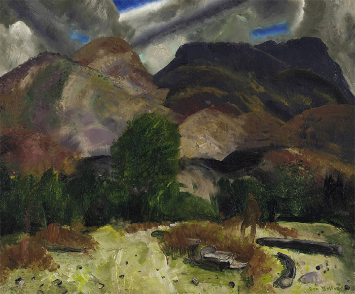 File:George Bellows - Hunter and Mountains (1920).jpg