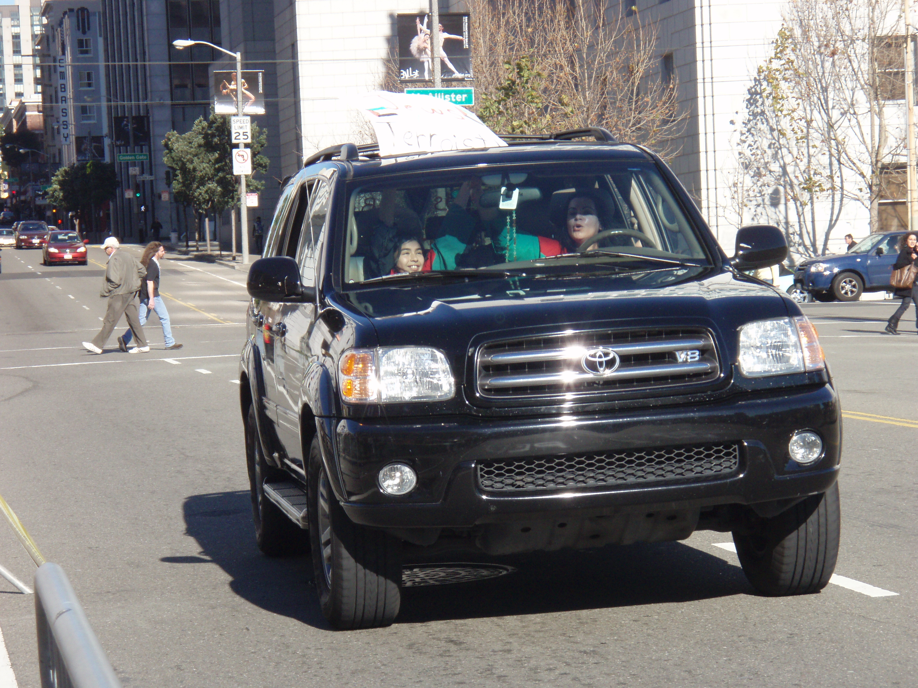 filehamas supporter driving the car with kidsjpg