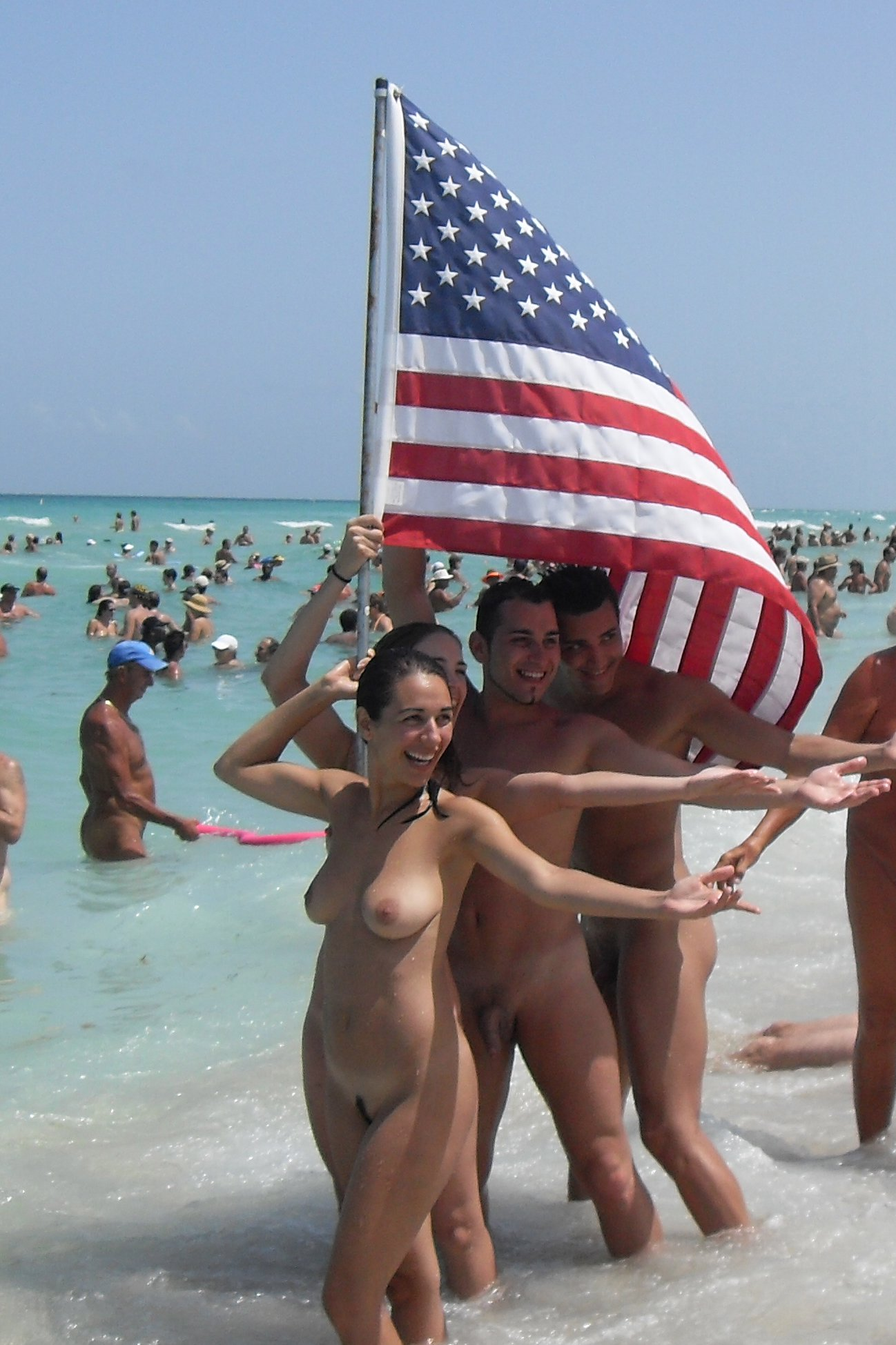 Naked And Free At Caspersen Beach In Sarasota Florida