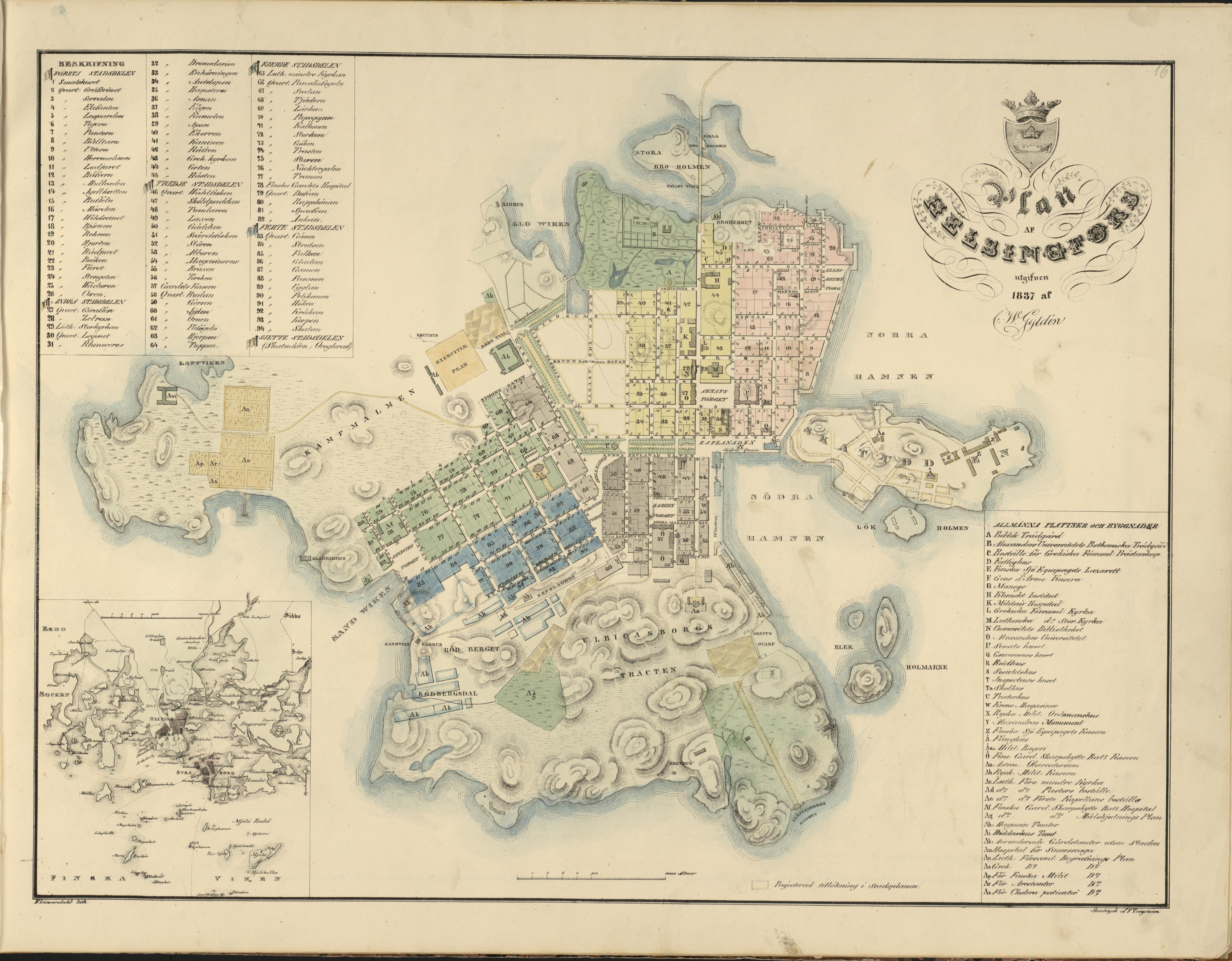 File Helsinki Map 1837 By Claes Wilhelm Gylden Jpg Wikimedia Commons