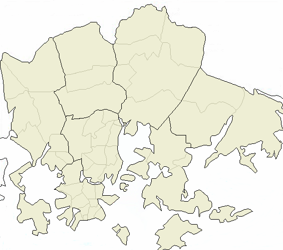 Kaupunginosat Helsinki