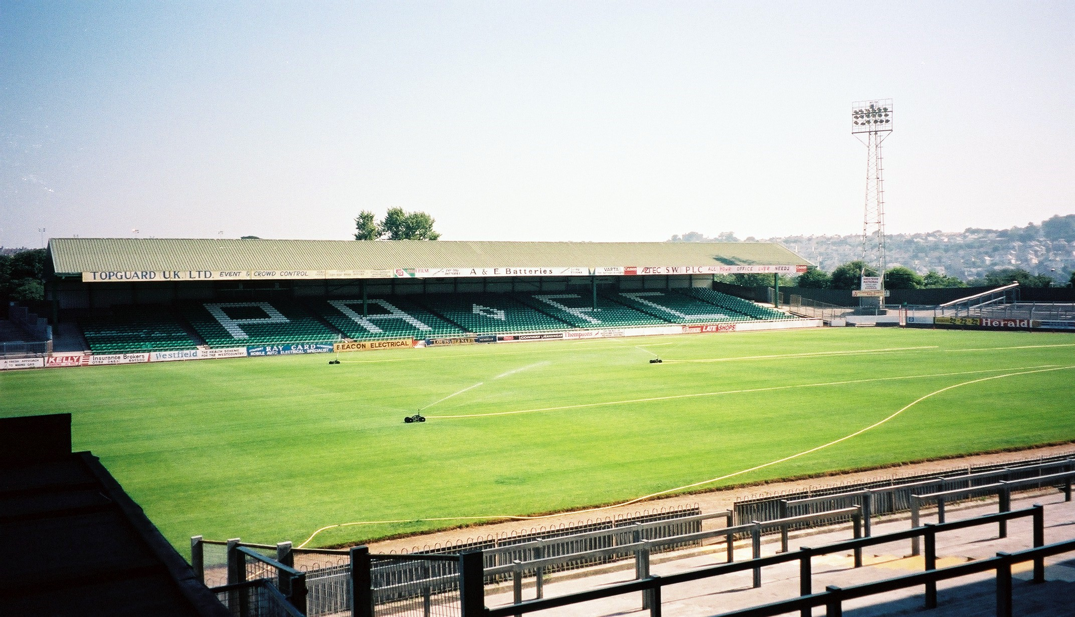 Home Park Plymouth Is An All Seater Football Stadium In The Central