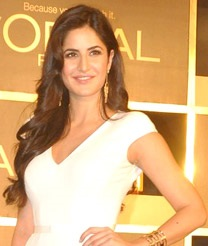 Katrina Kaif is looking away from the camera