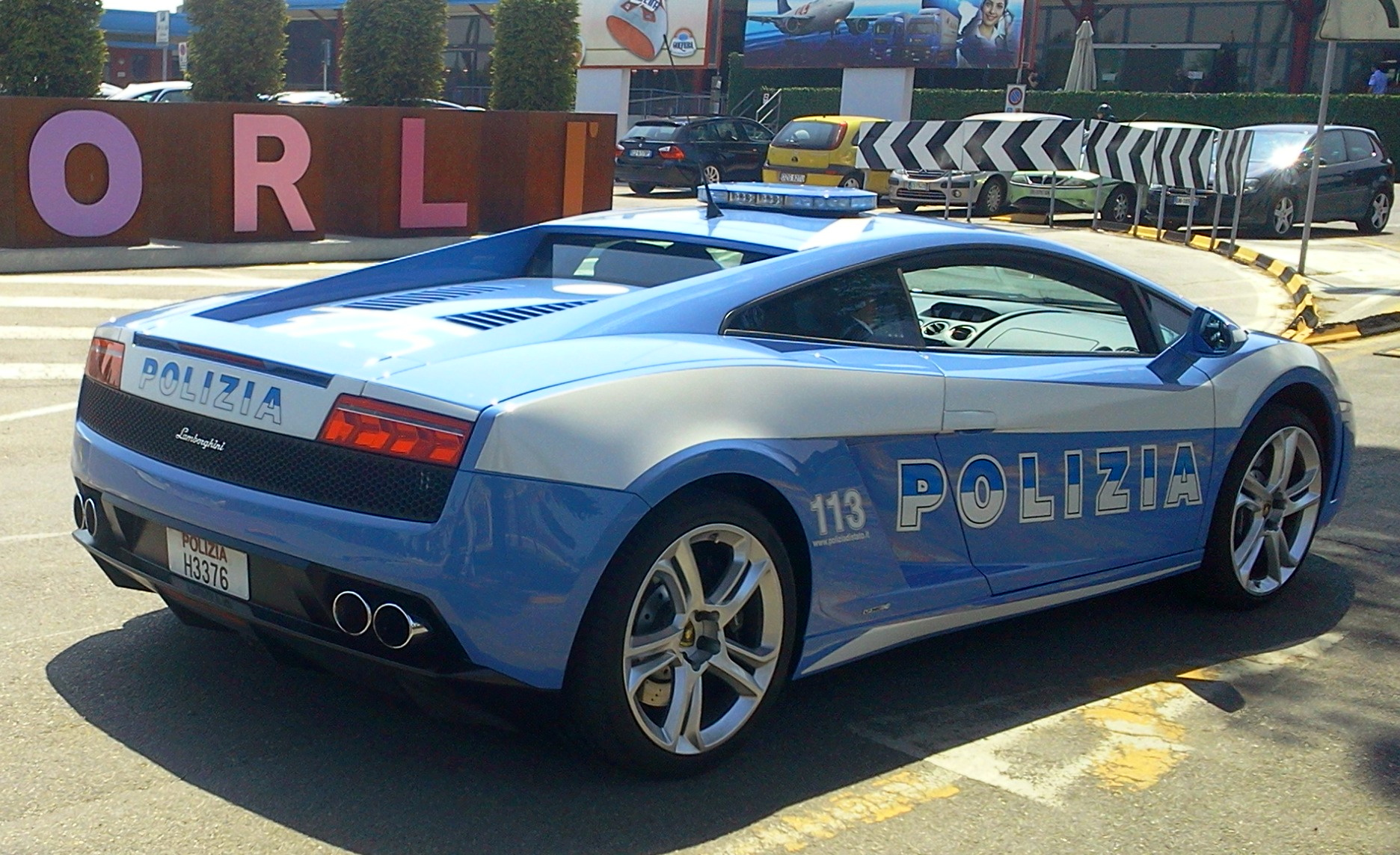 File lamborghini gallardo lp560 of the polizia di stato rear view jpg wikimedia commons