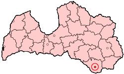 Placering af Daugavpils i Letland