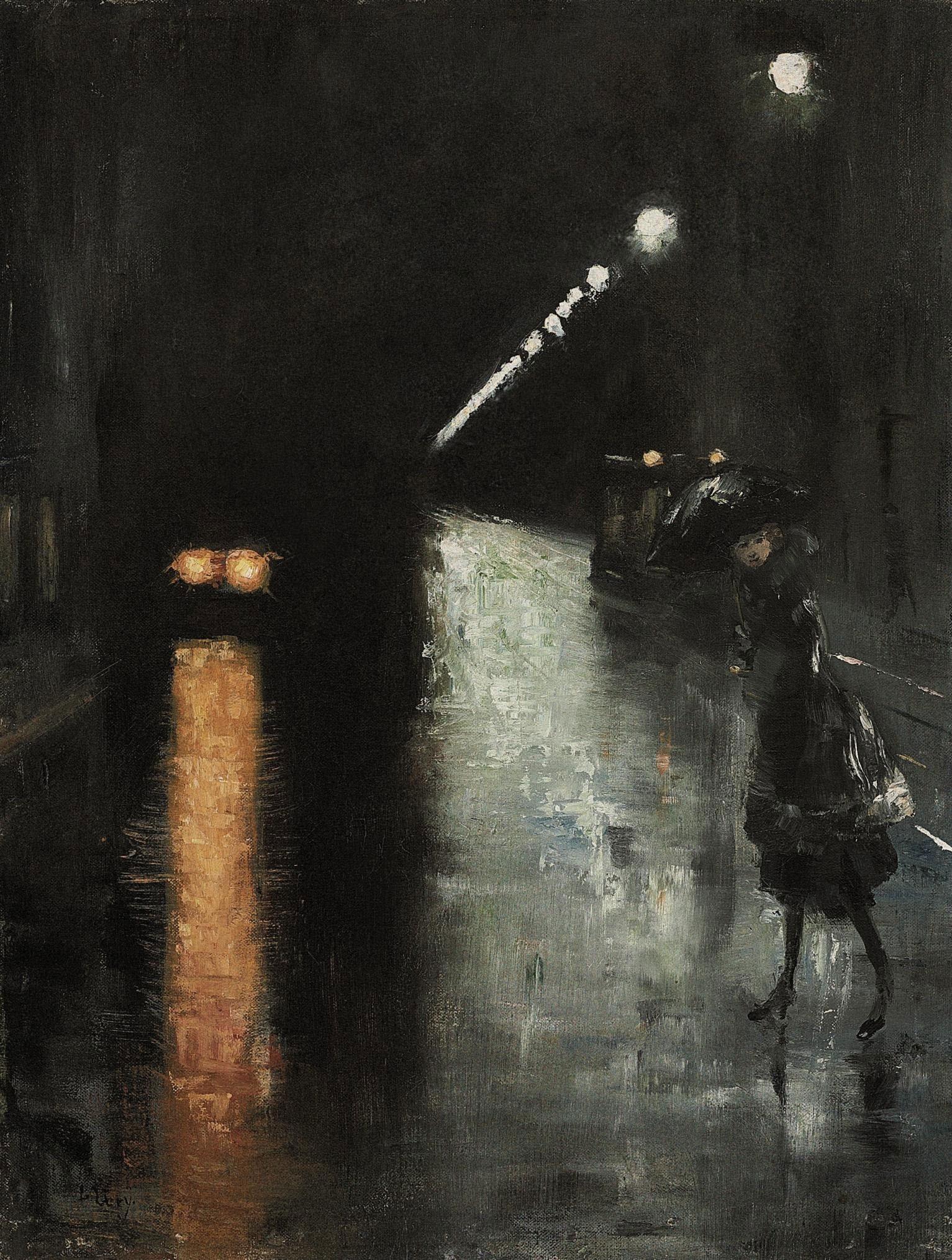 File:Lesser Ury - Nächtliche Strassenszene, Berlin (1920).jpg ...