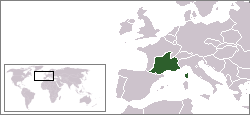 Location of Vichy France