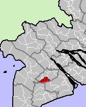 Location in Hậu Giang Province