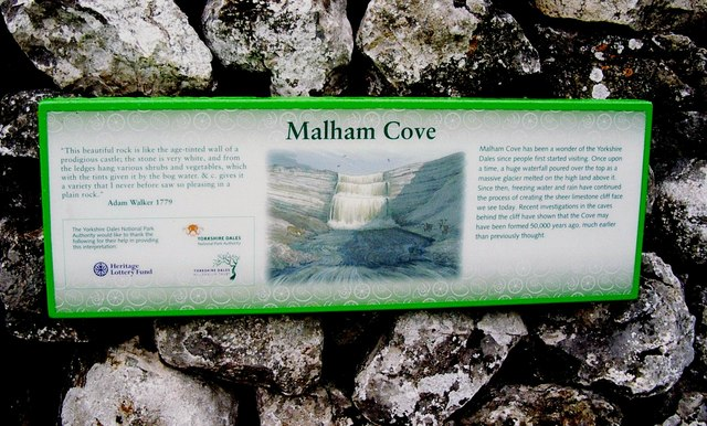 Malham Cove, Information Board - geograph.org.uk - 641826