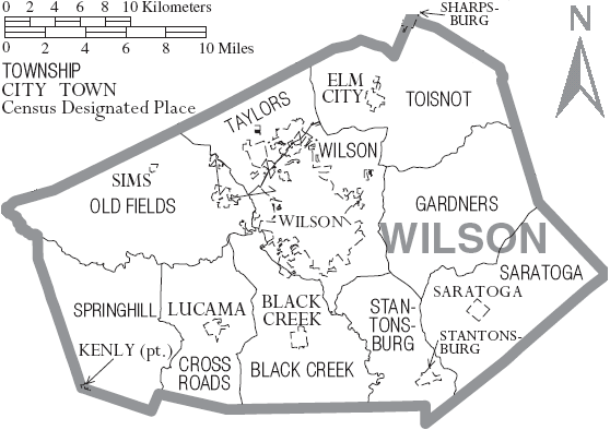 File:Map of Wilson County North Carolina With Municipal and