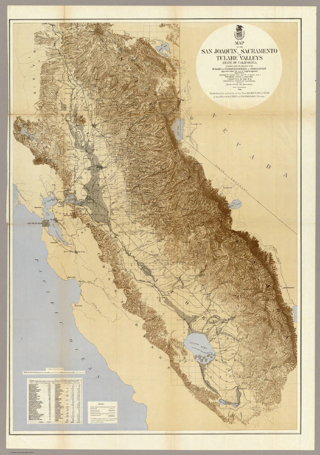 FileMap Of The San Joaquin Sacramento And Tulare Valleys 1873 - Us Map San Joaquin Valley