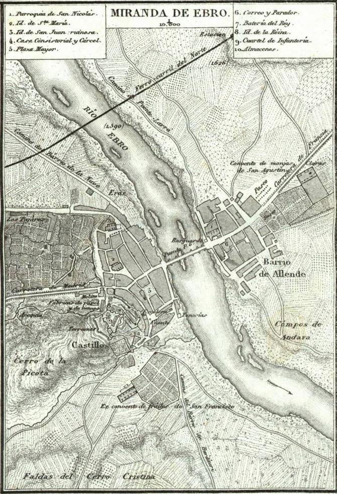 Mapa Miranda De Ebro.Archivo Mapa De Miranda De Ebro 1868 Por Francisco Coello