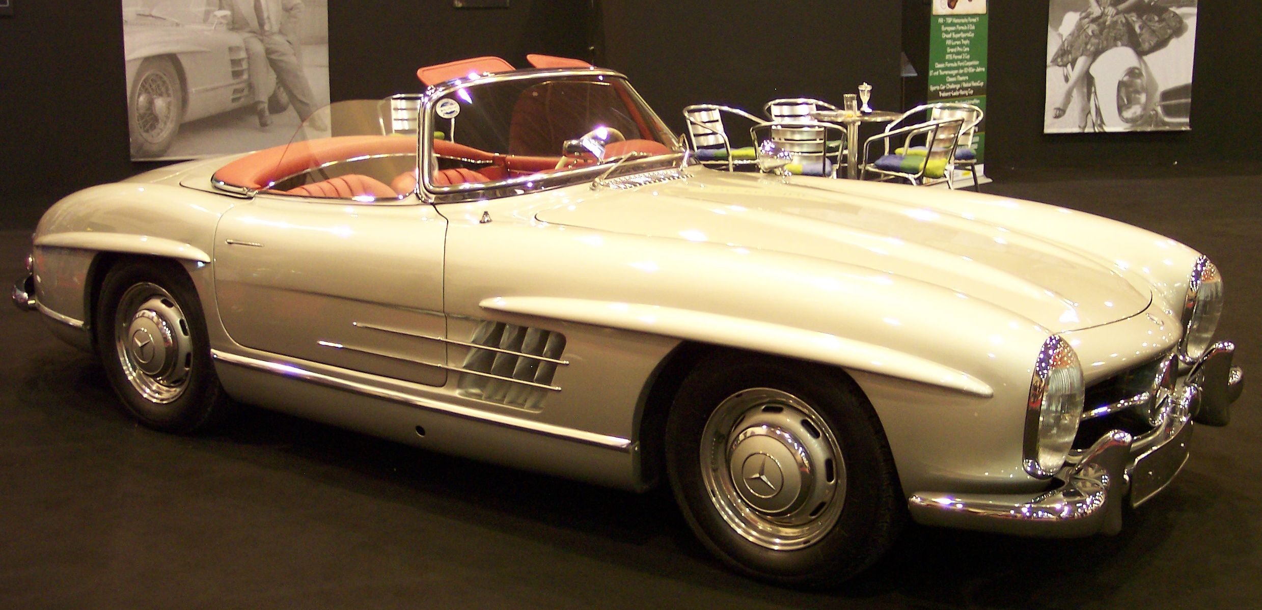 file mercedes 300sl cabrio vr silver wikimedia commons. Black Bedroom Furniture Sets. Home Design Ideas