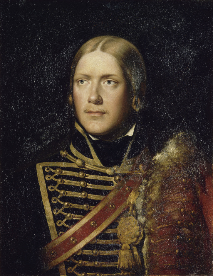 Michel Ney as a sous-lieutenant in the 4th Hussars in 1792, Adolphe Brune (1802-1875), 1834 Michel Ney (1792).jpg