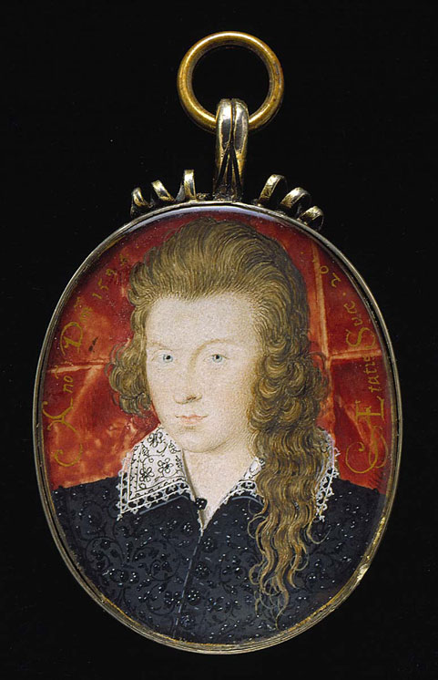 File:Miniature of Henry Wriothesley, 3rd Earl of Southampton, 1594