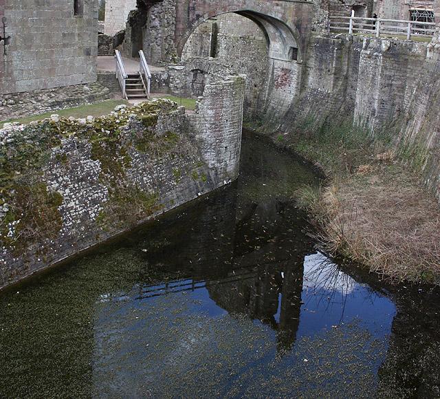 Moat, Raglan Castle - geograph.org.uk - 1759444
