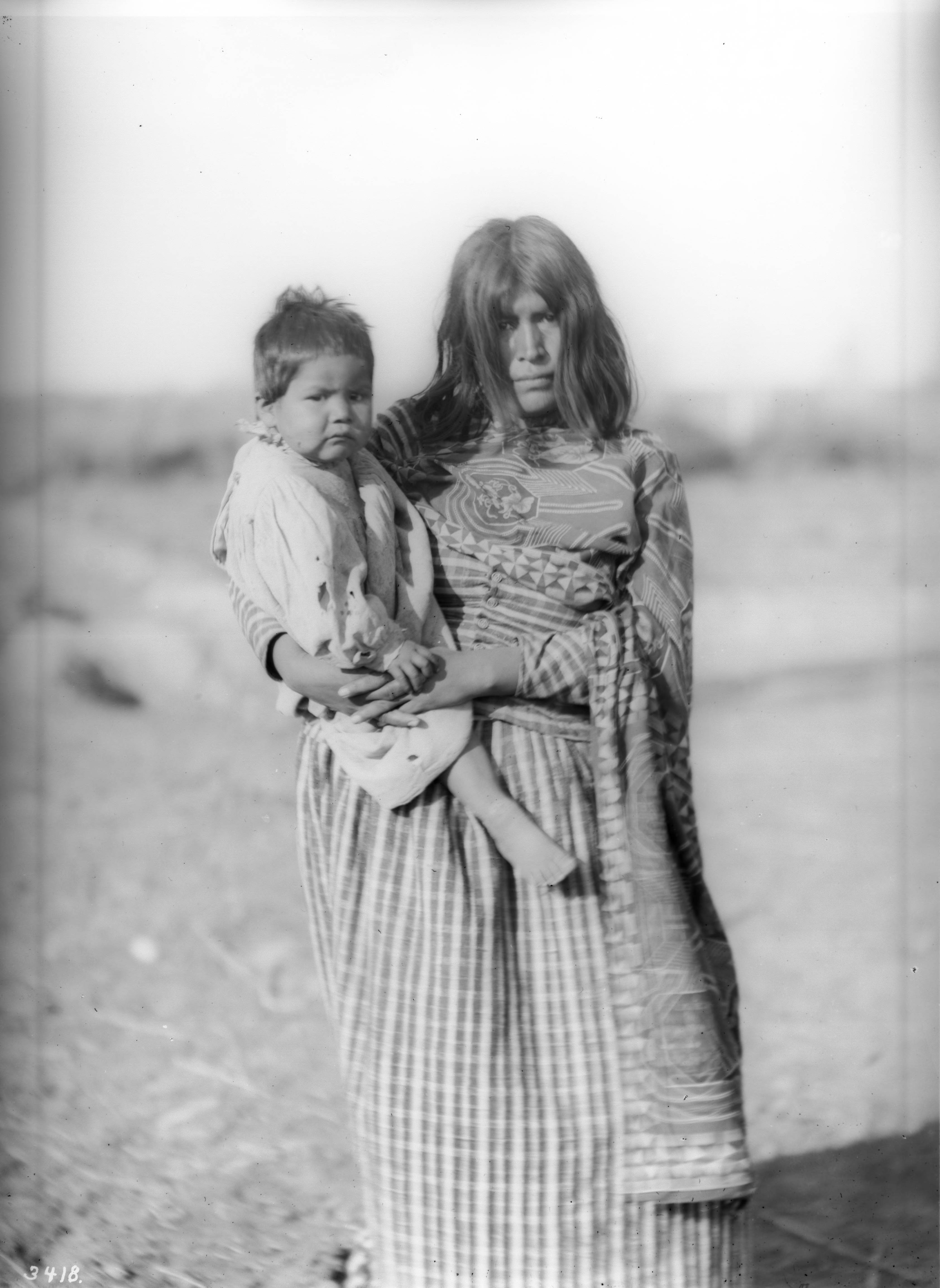 File Mojave Indian Mother Holding Her Baby Daughter Ca